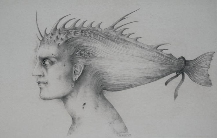 Alessandro De Michele, Matita su cartoncino, 50 x 30 cm